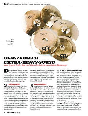 Sticks Meinl Byzance Brilliant Heavy Hammered Cymbals