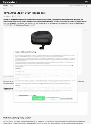 """Bonedo.de K&M 14055 """"Nick"""" Drum Hocker"""