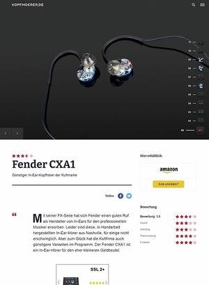 Kopfhoerer.de Fender CXA1 In-Ear-Monitor Blue