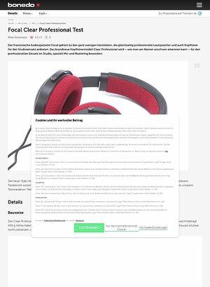 Bonedo.de Focal Clear Professional
