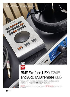Future Music RME FireFace UFX+ and ARC USB Remote