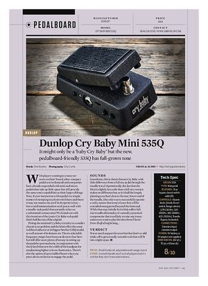Guitarist Dunlop Cry Baby Mini 535Q