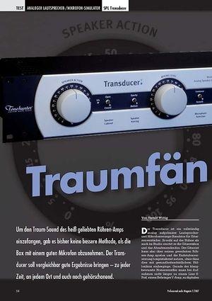 Professional Audio Traumfänger SPL Transducer