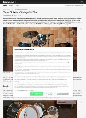 Bonedo.de Tama Club Jam Vintage Set