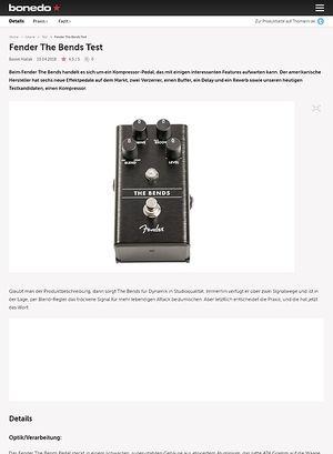 Bonedo.de Fender The Bends