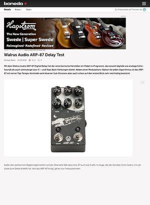 Bonedo.de Walrus Audio ARP-87 Delay