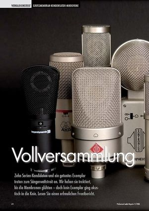 Professional Audio Vollversammlung: Großmembranmikrofone