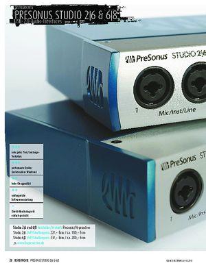 Sound & Recording Presonus Studio 2 6 und 6 8