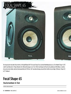 Sound & Recording Focal Shape 65
