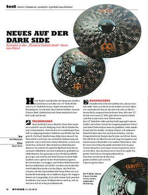 Sticks Meinl Classics Custom Cymbal-Neuheiten