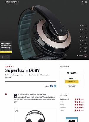 Kopfhoerer.de Superlux HD-687