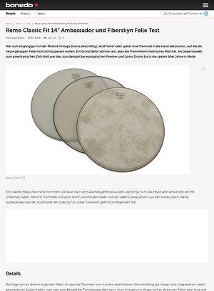 "Bonedo.de Remo Classic Fit 14"" Ambassador und Fiberskyn Felle"