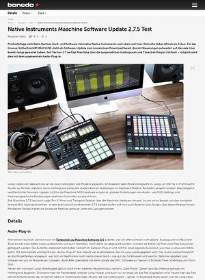 Bonedo.de Native Instruments Maschine Software Update 2.7.5