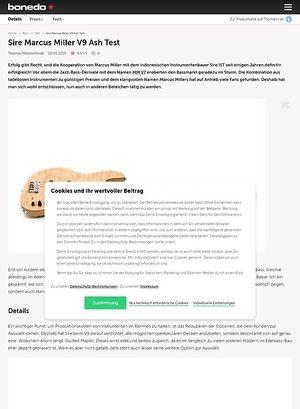 Bonedo.de Sire Marcus Miller V9 Ash