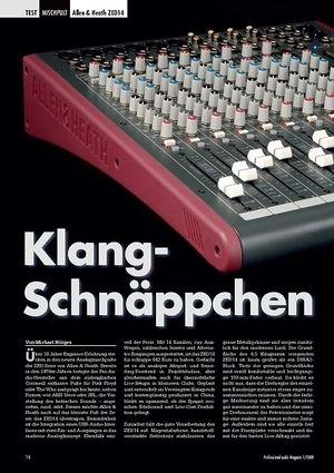 Professional Audio Klang- Schnäppchen Allen & Heath ZED14