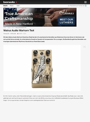 Bonedo.de Walrus Audio Warhorn