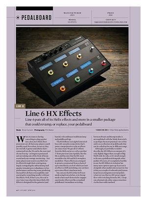 Guitarist Line 6 HX Effects