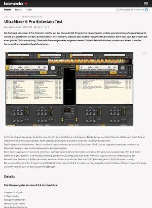 Bonedo.de UltraMixer 6 Pro Entertain