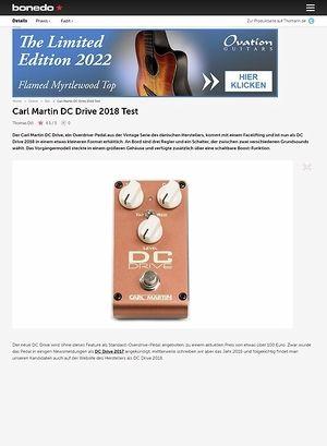 Bonedo.de Carl Martin DC Drive 2018