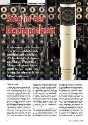 Professional Audio Sieg in der Nachspielzeit: Sennheiser MKH 800 Twin