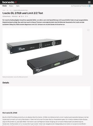Bonedo.de t.racks DL 2/918 und Limit 2/2