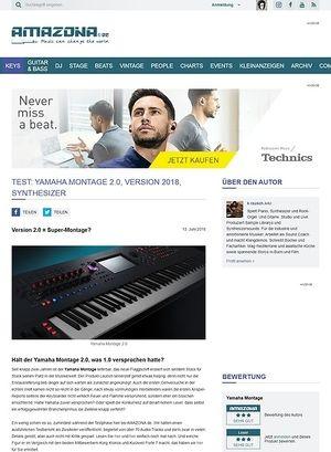 Amazona.de Yamaha Montage 2.0, Version 2018