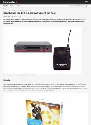 Bonedo.de Sennheiser EW 172 G3-EX Instrument Set