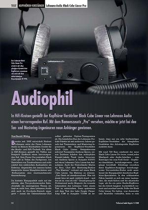 Professional Audio Audiophil Lehmann Audio Black Cube Linear Pro