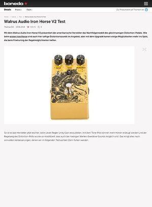 Bonedo.de Walrus Audio Iron Horse V2