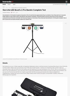 Bonedo.de Stairville LED BossFx-1 Pro Bundle Complete