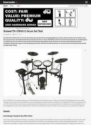 Bonedo.de Roland TD-17KVX E-Drum Set