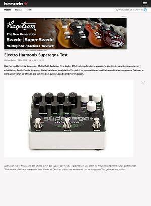 Bonedo.de Electro Harmonix Superego+
