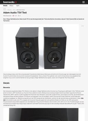 Bonedo.de Adam Audio T5V