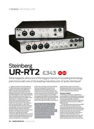 Computer Music Steinberg UR-RT2