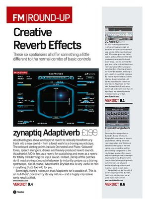 Future Music zynaptiq Adaptiverb