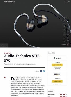 Kopfhoerer.de Audio-Technica ATH-E70