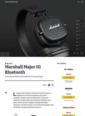 Kopfhoerer.de Marshall Major III Bluetooth Black