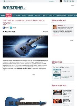 Amazona.de Solar Guitars A2.6T BLM Baritone