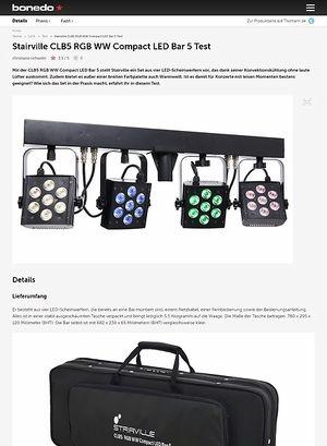 Bonedo.de Stairville CLB5 RGB WW Compact LED Bar 5