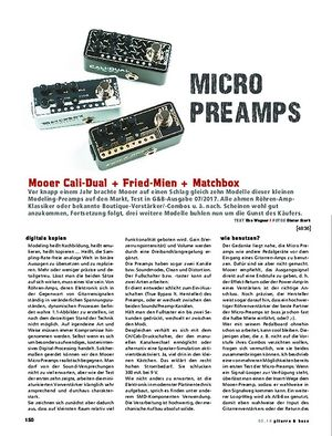 Gitarre & Bass Mooer Cali-Dual, Fried-Mien, Matchbox
