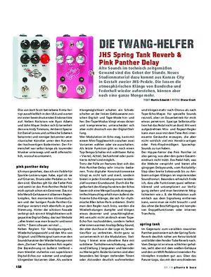 Gitarre & Bass JHS Spring Tank-Reverb & Pink Panther-Delay