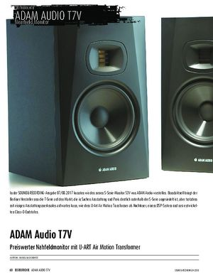 Sound & Recording ADAM Audio T7V