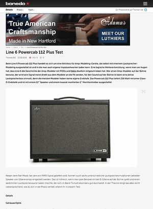 Bonedo.de Line 6 Powercab 112 Plus