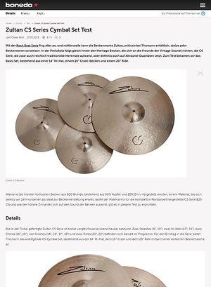 Bonedo.de Zultan CS Series Cymbal Set