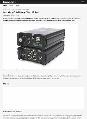 Bonedo.de Mackie MDB-2P & MDB-USB