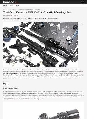 Bonedo.de Triad-Orbit IO-Vector, T-ES, IO-A2A, O2X, GB-3 Grav Bags