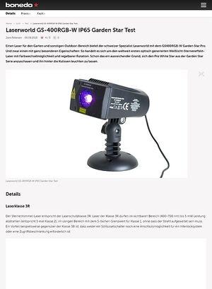 Bonedo.de Laserworld GS-400RGB-W IP65 Garden Star