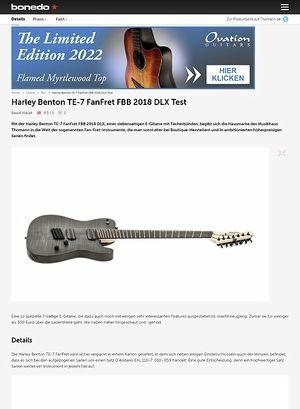 Bonedo.de Harley Benton TE-7 FanFret FBB 2018 DLX