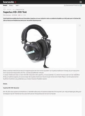 Bonedo.de Superlux HD-330