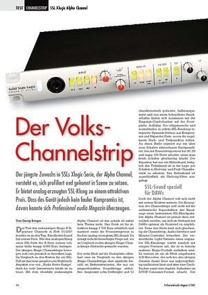 Professional Audio Der Volks-Channelstrip SSL Xlogic Alpha Channel